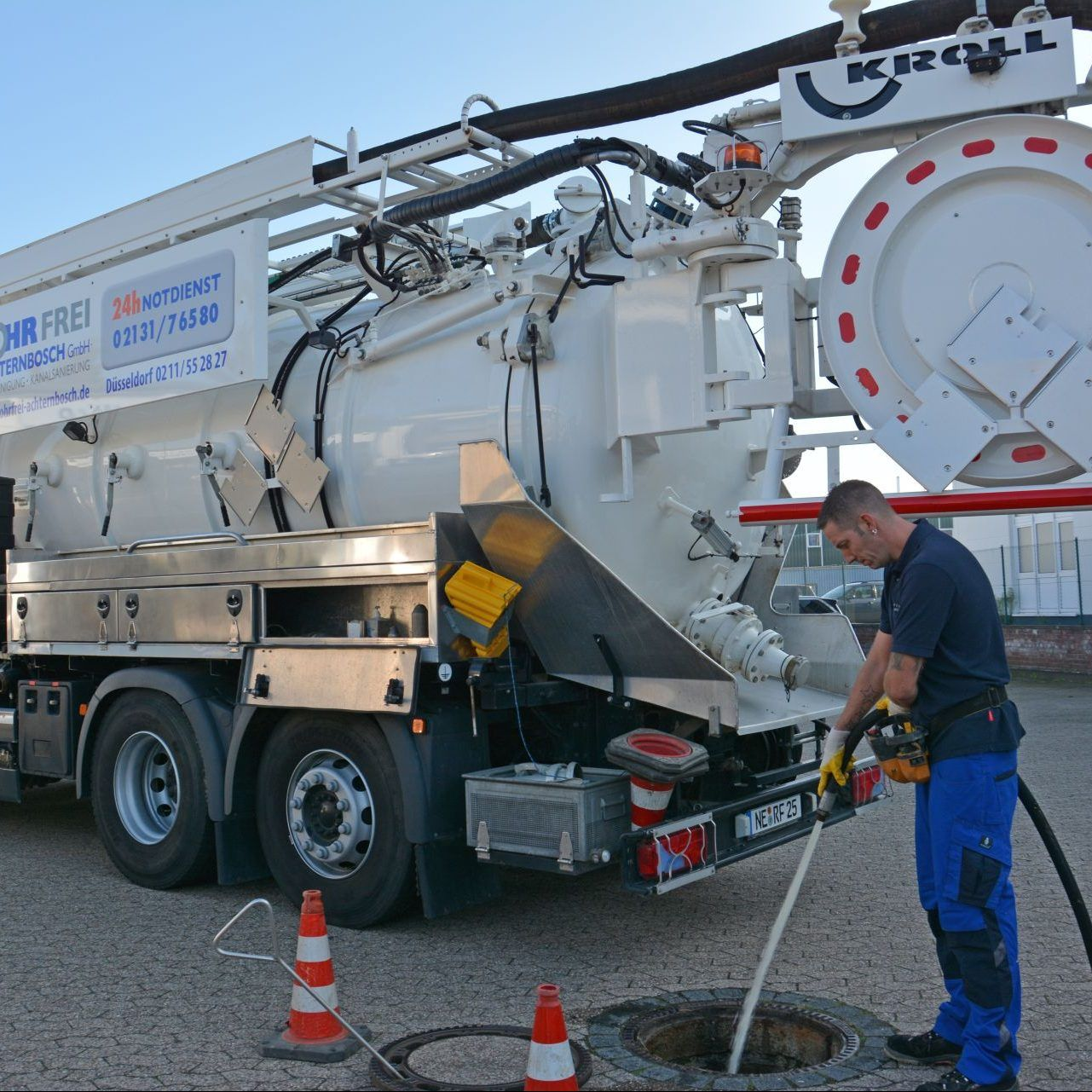 rohr und kanalreinigung rohr frei achternbosch